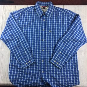The North Face long sleeve button down shirt blue